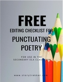 FREE Editing Checklist for Punctuating Poetry