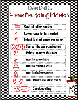 FREE-> Editing Marks page