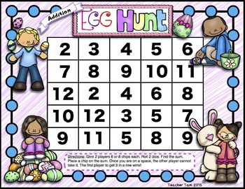Multiplication and Addition Egg Hunt Games FREEBIE!
