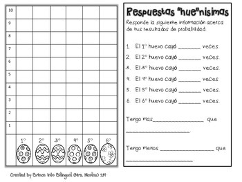 "FREE Eggcellent Graph - Grafica ""hue""nisima Spanish AND English"