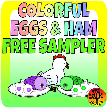 Eggs and Ham Centers FREEBIE Spring Activities Literacy Colors Rhyming CVC Words