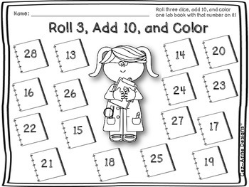 FREE Eight-Page Sample of Roll and Color Schoolhouse ~ Three Pack Bundle Saver