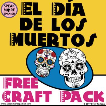 FREE El Día de los Muertos CRAFT PACK. Fold & Color Spanish for Day of the Dead!