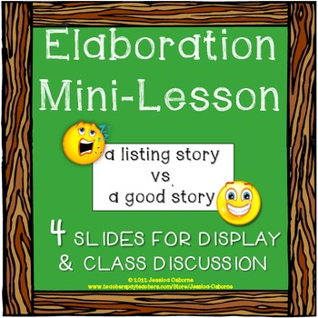 Elaboration Mini-Lesson (FREE)