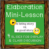 Elaboration Mini-Lesson & Graphic Organizer (FREE)