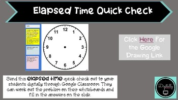FREE Elapsed Time Quick Check (Google Classroom Activity)