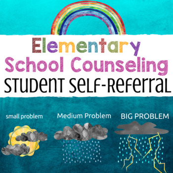 FREE Elementary School Counseling Student Self-Referral Form. In Spanish, too!