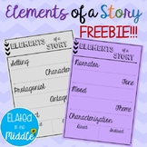 FREE Elements of a Story Note Sheet