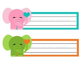 FREE Elephant Nameplates