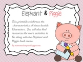 FREE- Elephant and Piggie Characteristics Printable