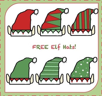 FREE Elf Hats Clipart / Elf Clipart {Christmas Clipart}