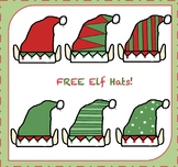 FREE Elf Hats Clipart / Elf Clipart {Christmas Clipart}