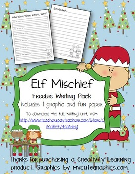 FREE Elf Mischief Narrative Writing Pack