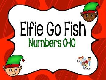 FREE!  Elfie Go Fish! Numbers 0-10