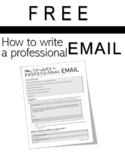 FREE! Email-Writing Handout: How to Write a Professional Email