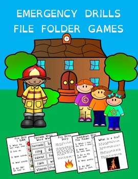 FREE Emergency Drills File Folder Game