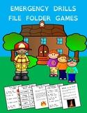 FREE Emergency Drills File Folder Game