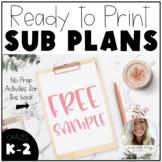 FREE Emergency Sub Plans!