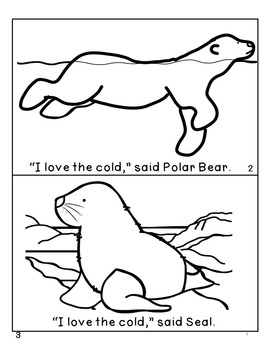 FREE Emergent Reader Polar Animals, Penguin, Polar Bear, Snowy Owl