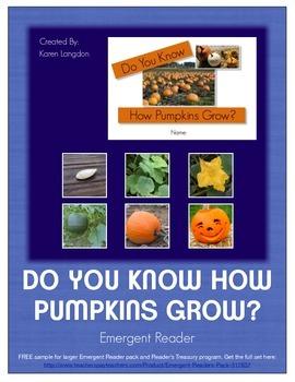 Emergent Reading Book - Pumpkin Growth