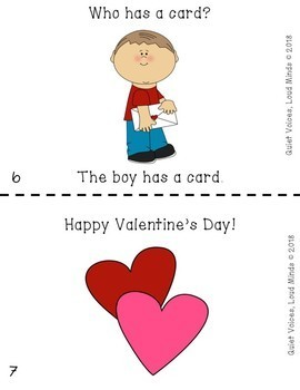FREE Emergent Reader - Valentine's Day themed - For Speech Therapy and PreK