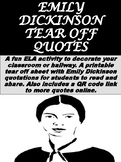 FREE Emily Dickinson Tear Off Quotes
