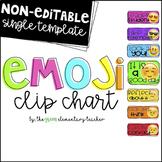NonEditable Emoji Behavior Clip Chart
