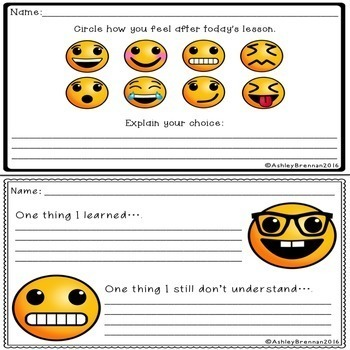 FREE Emotion Exit Tickets - Formative assessments for any subject