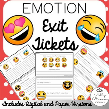 FREE Emoji Exit Tickets - Formative assessments for any subject