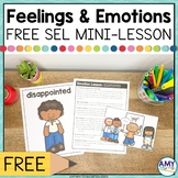 FREE Emotions and Feelings SEL Lesson Plan for Feeling Dis
