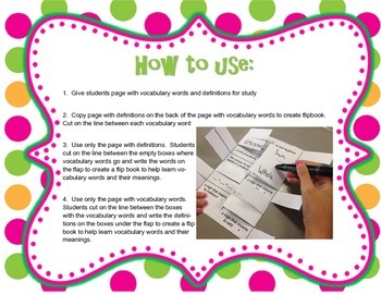 EnVision Math 2nd Grade Vocabulary Fold ups - FREE Topic 1