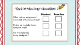 FREE 'End-of-Day' Checklist