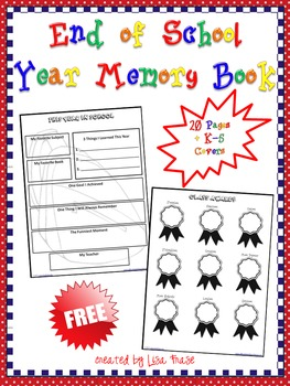 FREE! End of School Year Memory Book for Grades K-5 by Lisa Frase