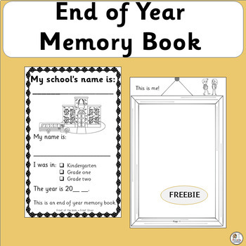 FREE! End of Year Memory Book (SASSOON)