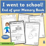End of Year Memory Book FREE  | SASSOON Font