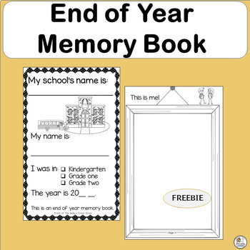 FREE! End of Year Memory Book