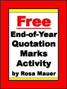 FREE End-of-Year Quotation Marks Activity