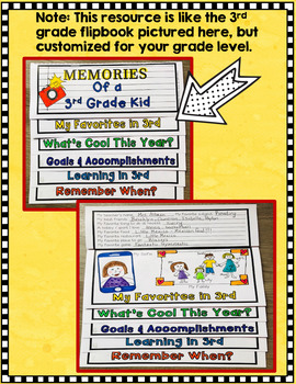 5th Grade End of the Year Memory Book Activities / Flipbook