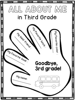 End of the Year Activities for Third Grade