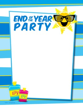 FREE End of the Year Party Invite/Information sheet