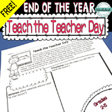 FREE! End of the Year: Teach the Teacher Day!
