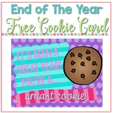 FREE End of the year cookie card, Smart Cookie thank you card