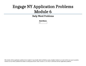 FREE Engage NY Module 6 application problems