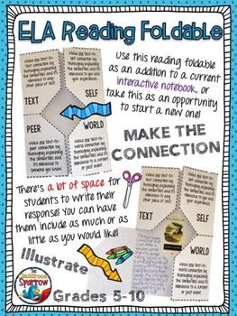 English Language Arts Reading Connections Interactive Foldable