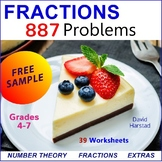 FREE -  Equivalent Fractions Math Worksheet (Gr. 3-7)