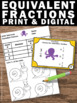FREE Equivalent Fractions Task Cards 4th 5th Grade Math Ce