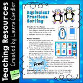FREE Equivalent Fractions Sorting - Penguin Fractions Activity