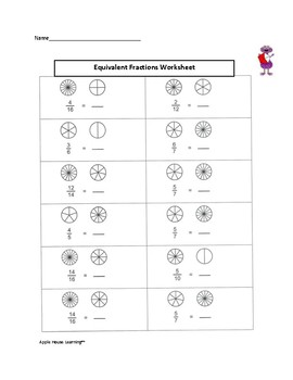 FREE - Equivalent Fractions Worksheet