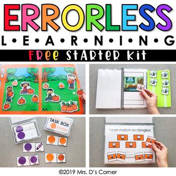 FREE Errorless Learning Starter Pack | File Folder, Task Box, Adapted Book