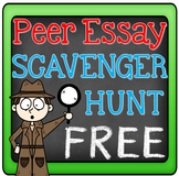 FREE Essay Writing Peer Editing Activity